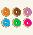 Donuts vector image
