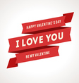 Saint Valentines Day Ribbons vector image