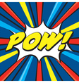 Cartoon POW vector image vector image