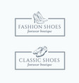 classic fashion shoes footwear boutique abstract vector image