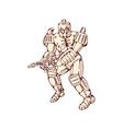 Mecha Robot Warrior With Ray Gun vector image