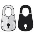 Rusty padlock-old padlock vector image