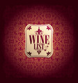 vine list baroque card vector image