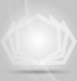 white polygon background vector image vector image