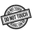 Do Not Touch rubber stamp vector image