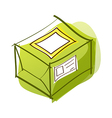 A package is placed vector image vector image