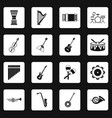 musical instruments icons set squares vector image