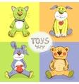 cute stuffed animals vector image