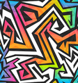 spectrum color graffiti seamless pattern vector image