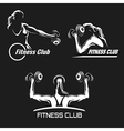 Fitness Emblem Set vector image