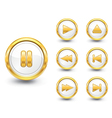 gold buttons set vector image