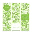 abstract green and white circles vertical banners vector image