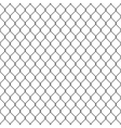 Black seamless chain link fence background vector image