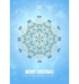 Modern Christmas fancy winter snowflake card vector image