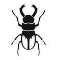 Rhinoceros beetle icon simple style vector image