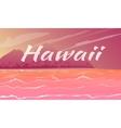 hawaii panorama cartoon vector image