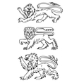 Powerful lions and predators vector image vector image