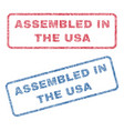 assembled in the usa textile stamps vector image