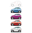 smallest car vector image