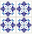 azulejos tiles pattern - portuguese blue design vector image