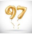 golden number 97 ninety seven metallic balloon