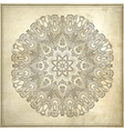 Ornamental floral circle pattern in grunge backgro vector image