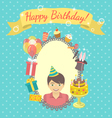 Happy Birthday Card for Boy vector image