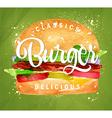 Burger green vector image