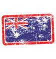 australia flag red grunge rubber stamp vector image