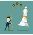 Businessman reaching success Strategy vector image