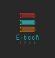 E-book mockup logo internet education or learning vector image