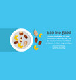 eco bio food banner horizontal concept vector image
