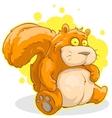 Fat squirrel vector image