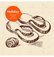 Vintage travel and holiday background vector image