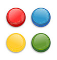 colored glossy button vector image