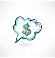 Dollar sign in the cloud vector image vector image