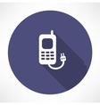 charging the phone concept vector image