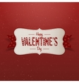 Big white Valentines Day Banner with Text vector image