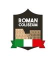 Roman coliseum icon Italy culture design vector image