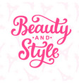 beauty and style logo vector image