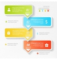 Design business infographics four successive vector image