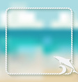 dolphin marine background vector image
