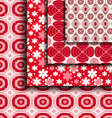 floral pattern red vector image