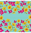 Floral pattern with beautiful flowers vector image
