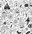 halloween seamless pattern ornamental style vector image