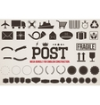 Icons Delivery for design emblems vector image