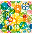 Seamless clockwork colorful background vector image