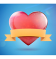 glossy heart shape vector image vector image