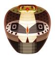 snake head logo cobra decorative emblem vector image