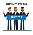 business team working together successful vector image